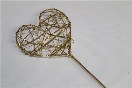 Bridal Wand Heart L8 Ol30cm Gold thumbnail
