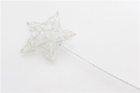 Bridal Wand Star L8 Ol30cm White Irid thumbnail