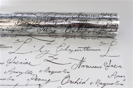 Flowerwrap Script W80cm Black  (100m) thumbnail