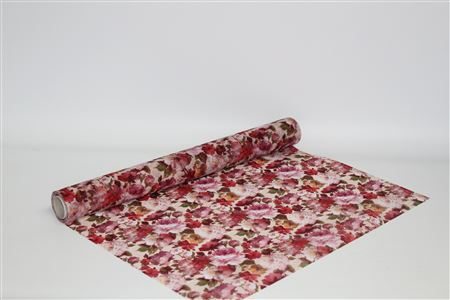 Spider Web Fabric W53cm Digi Roses Pink (9m) thumbnail