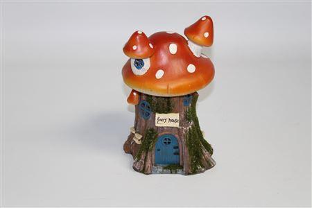 Polyresin Secret Garden Solar Mushroom House thumbnail
