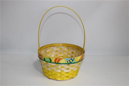 Basket Easter Round Eggs At Easter D25 H33cm thumbnail