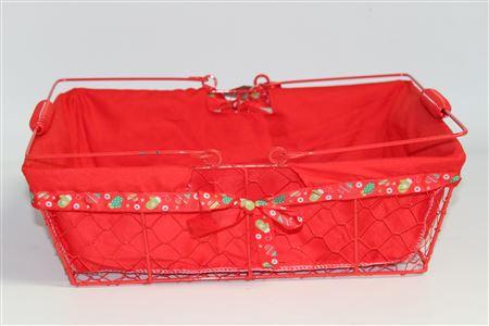 Basket Christmas Cheer Shopper L36 D25cm thumbnail