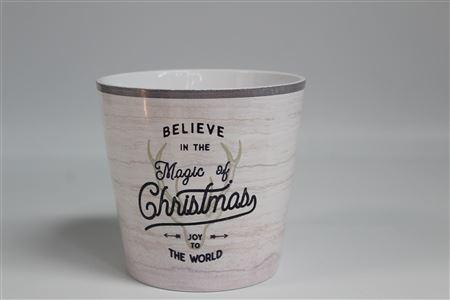 Ceramic Pot Cover Magic Xmas D14 H13cm (pk6) thumbnail
