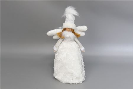 Angel White Fabric H35cm thumbnail