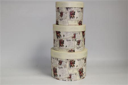 Hat Box Round Vintage Postcard (set 3) thumbnail