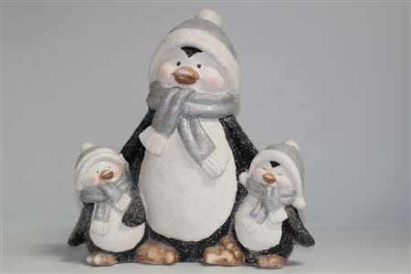 Magnesia Penguin's The Chilly Family H40 L38.5cm thumbnail